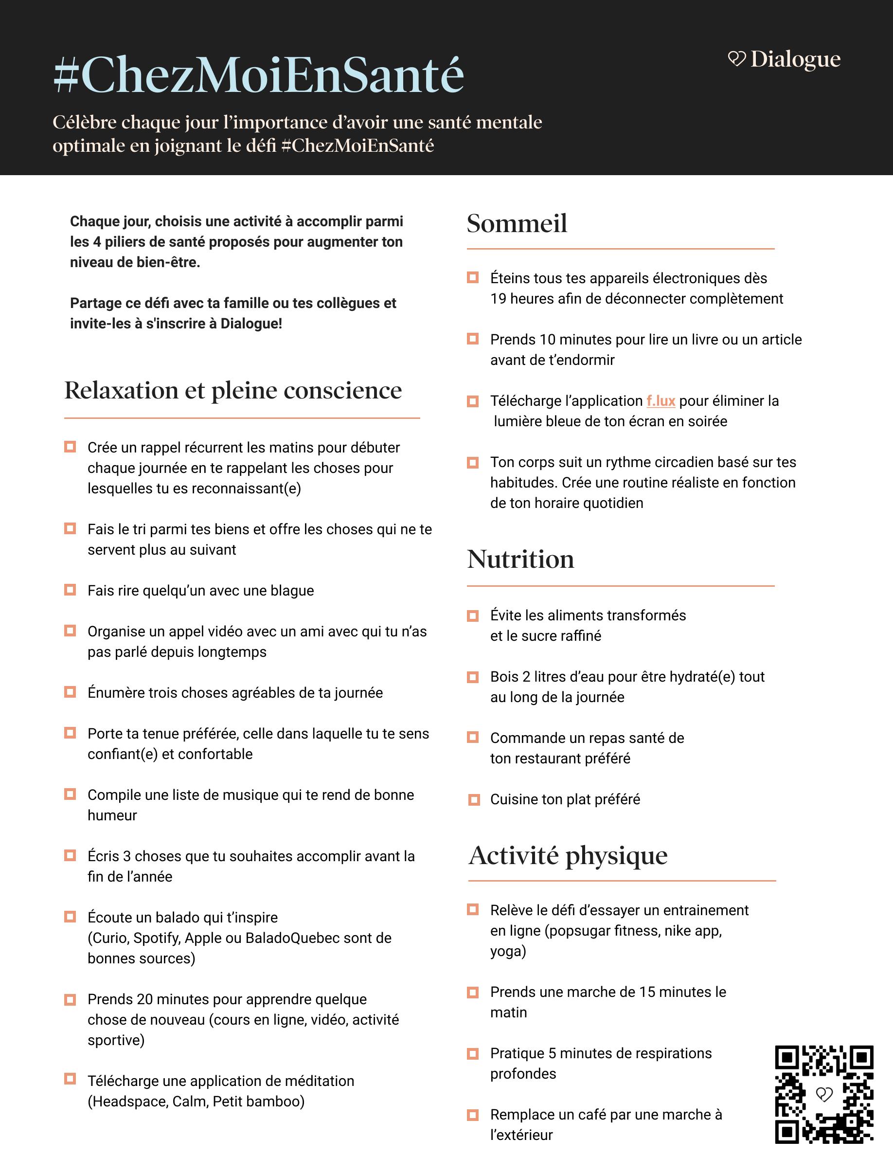 #ChezMoiEnSanté Challenge