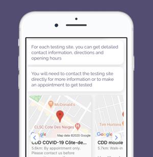 Chloe for COVID - testing sites - EN