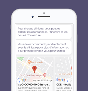 Chloe for COVID - testing sites - FR-1
