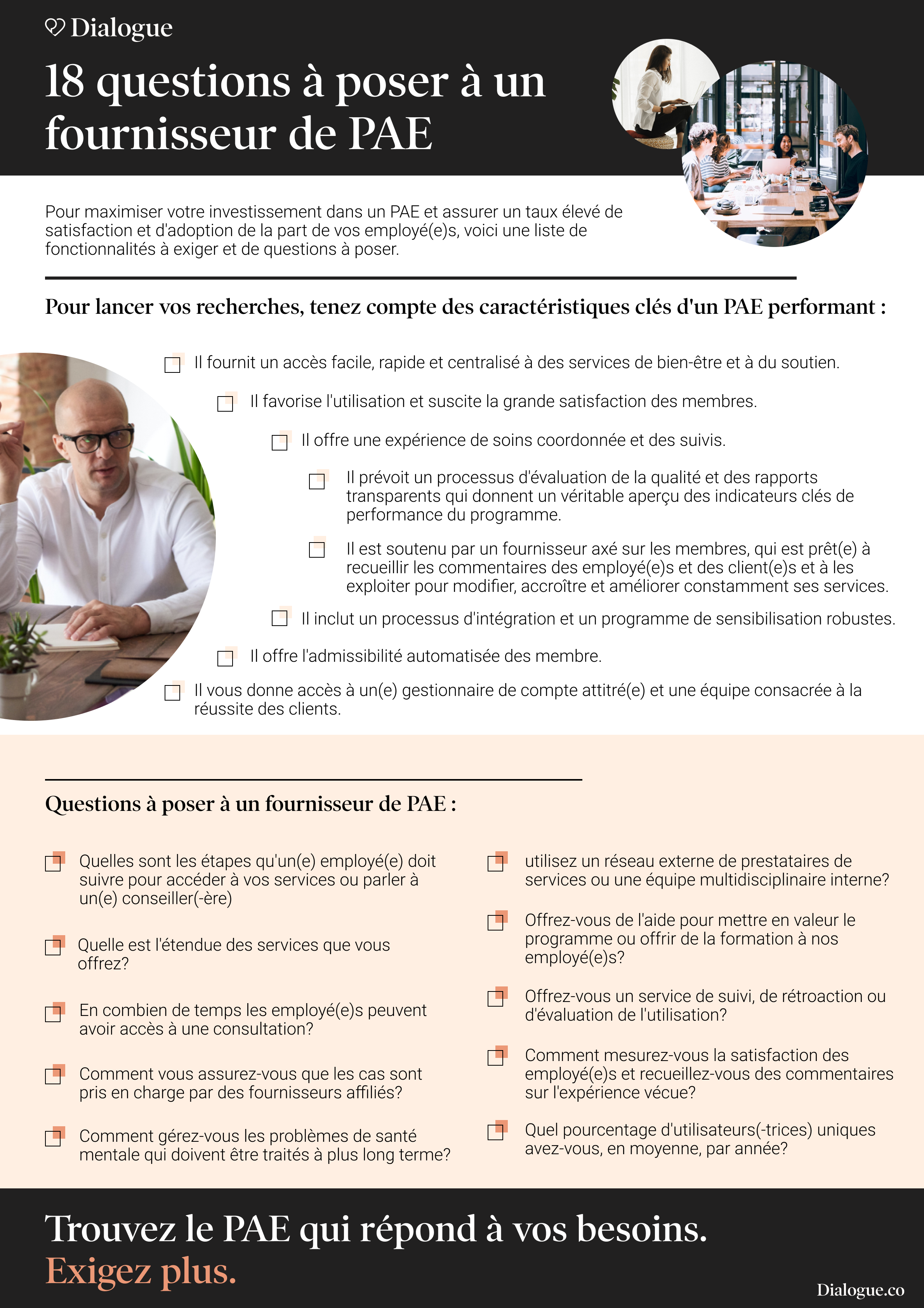 Questions pour PAE
