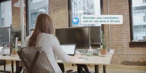 Woman computer - virtual healthcare consultation